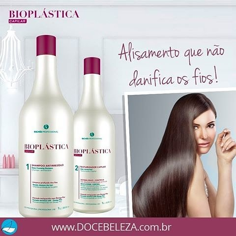 richée bioplástica queratina brasileña pelo alisado de Peine Plancha de pelo sistema 2 L: Amazon.es: Belleza