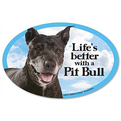 - Pit Bull Car Magnets: Life's Better with an Pit Bull - Oval 6