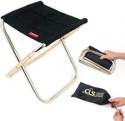 Rosilesi Folding Chairs Outdoor Lightweight Aluminium Alloy Folding Stool Compact Portable Fishing Camping Seats