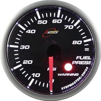 Stack Professional Fuel Pressure Gauge Black Dial Face 0-100 PSI Range
