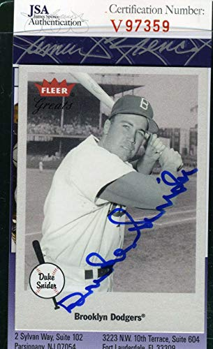 DUKE SNIDER 2001 Fleer JSA Coa Hand Signed Authentic Autograph