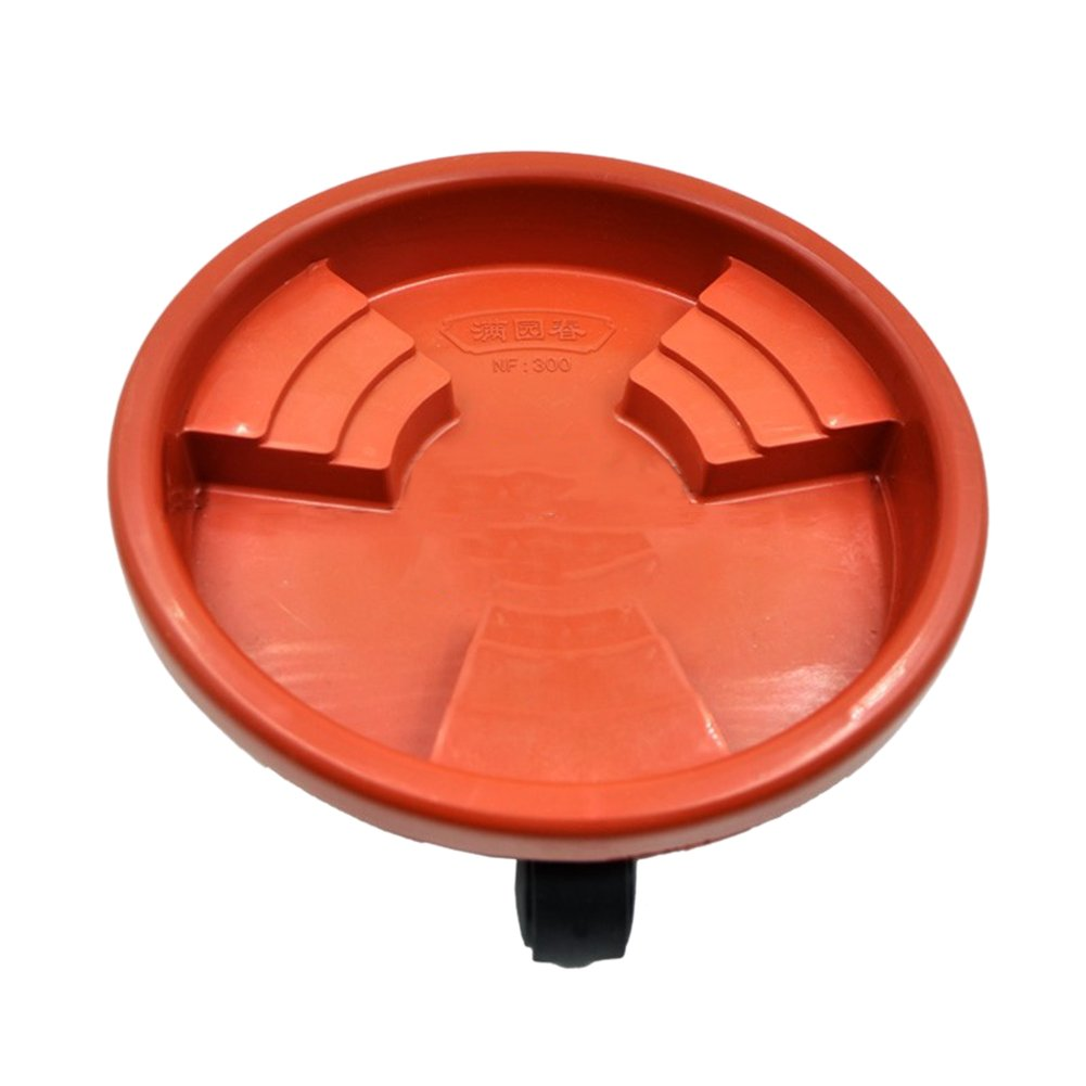 Plant Caddy On Wheels Rolling And Freemove Plantpot Round Flowerpot Stand, Universal Wheel Resin Flower Pot Tray Mobile non-slip Flower Pot Base Tray For Indoor And Outdoor (Brown, 18.9in)