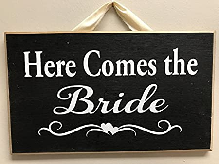 Here Comes The Bride Wooden Signs Plaque Decorative Wood Signs With Best Decorative Wood Signs With Sayings