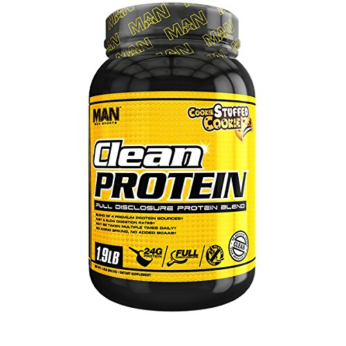 MAN Sports Clean Protein, Full Disclosure Protein Blend, Cookie Stuffed Cookie, 1.9 Pounds