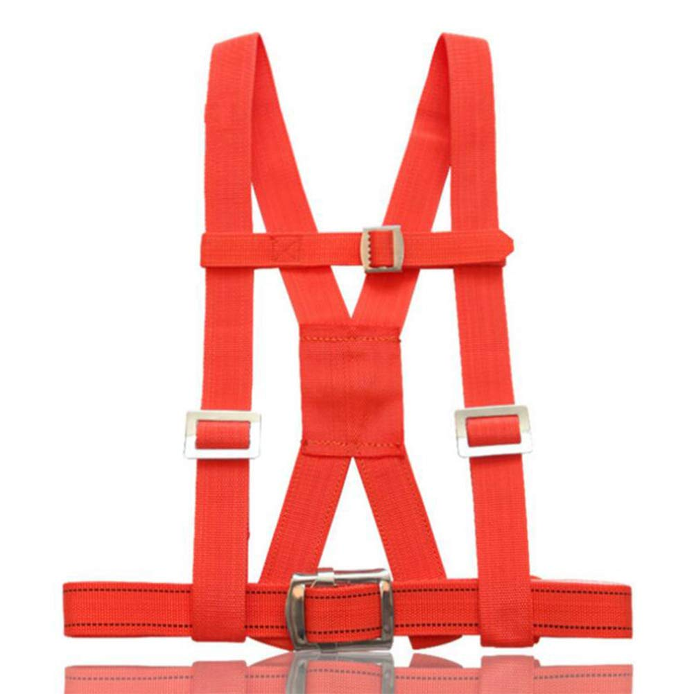 LAIABOR Half Body Harness Safety Fall Protection Belt with 30 m Crane Rope Polyester seat Belt fire Rescue seat Belt,Orange