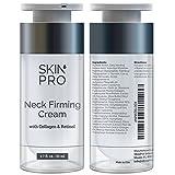 SkinPro Neck Firming Cream – Anti Aging & Skin Tightening Serum – Age Defying – Made with Marine Collagen & Peptides – Contains Vitamin A & Retinol for Firm Skin – Paraben Free –1.7 oz/50ml