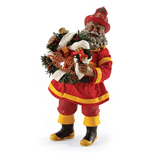 Department 56 Possible Dreams To The Rescue Firefighter Santa, 10.5 inch Dream Fighter