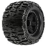Proline 118411 Trencher 3.8' All Terrain Tire Mounted on Desperado Black Wheels