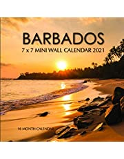 Barbados 7 x 7 Mini Wall Calendar 2021: 16 Month Calendar