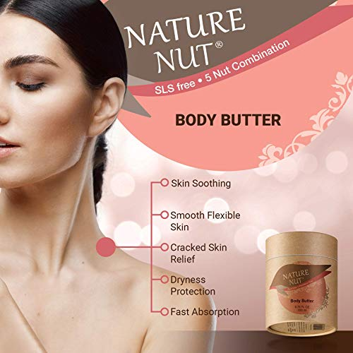 Shower Gel Body Wash Moisturizer + Body Butter, Skin Moisturizer, Well Absorbed. Hypoallergenic 5 Nut Oil Hydration Formula for Women and Men Hydration Boost Skin Glow Formula For Soft and Silky Skin