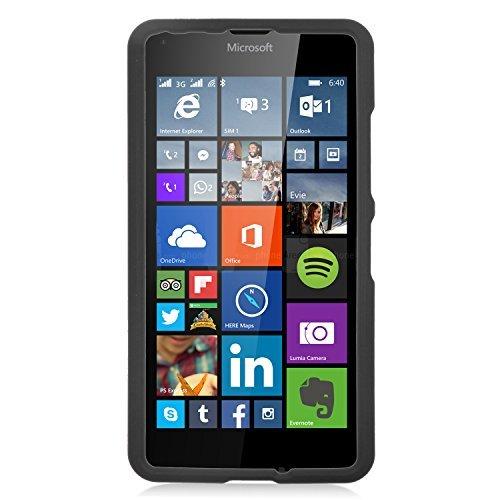 Microsoft Lumia 640 Case, Eagle Cell Rubberized Hard Snap-in Case Cover for Microsoft Lumia 640, Black
