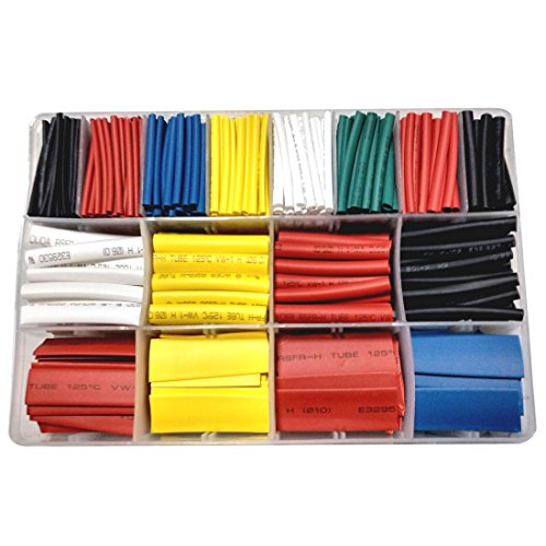 (Copapa 610 pcs 2:1 Heat Shrink Tube 6 Colors 10 Sizes Tubing Set Combo Assorted Sleeving Wrap Cable Wire Kit for DIY Kit - 2:1 Shrink Ratio (610CS))