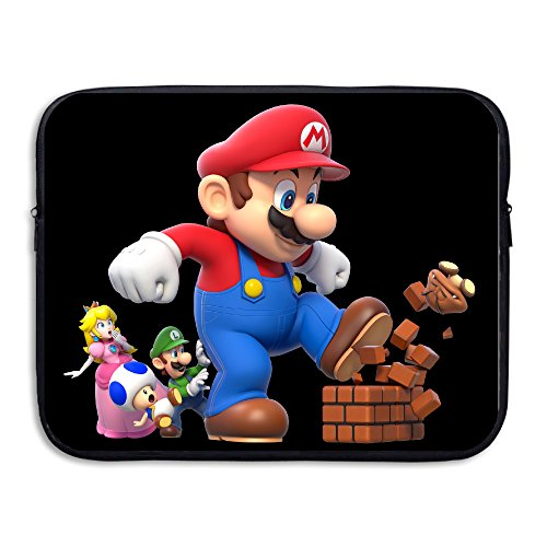 Super Mario Couples Costumes (KathyB Super Mario Bro Laptop Case Black)