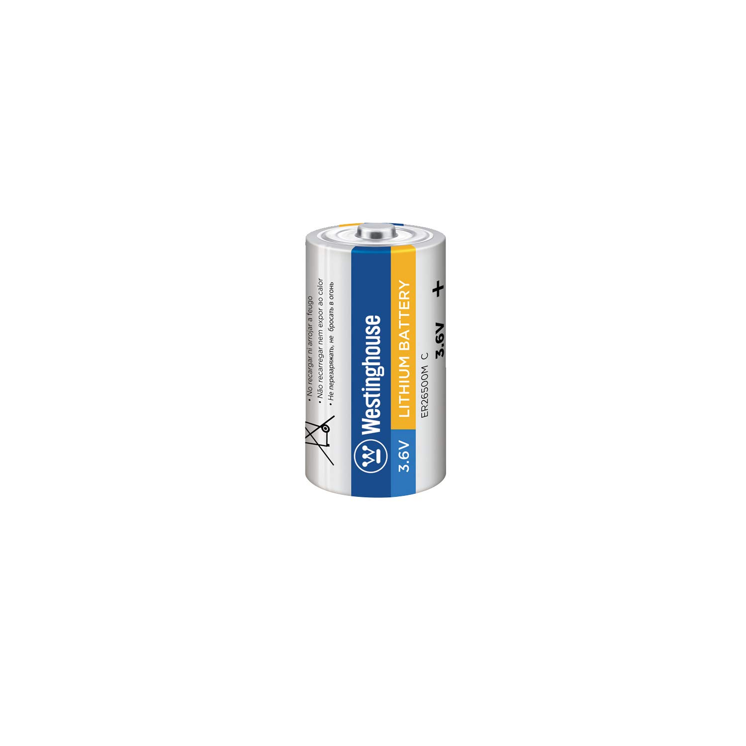 Amazon.com: Westinghouse ER26500 C Size 3.6V 9000mAh Li-Socl2 Lithium Thionyl Chloride Primary Non-Rechargeable Battery (1 Count): Home Audio & Theater