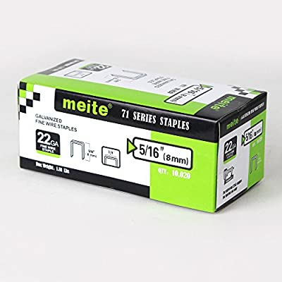 meite 7116BL Upholstery stapelr--1/4-Inch to 5/8-Inch 22 Gauge 3/8'' Crown C Crown Long Nose Fine Wire Stapler Stapler
