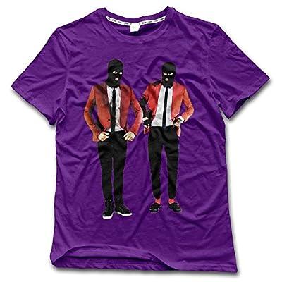 NDZZZ Man Customized Humor Twenty-One-Pilots Cotton T-Shirt For Riding Small Purple