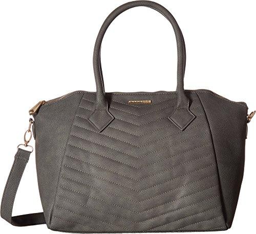 Quilt Handbag Purse (Rampage Women's Chevron Quilt Satchel Slate One Size)