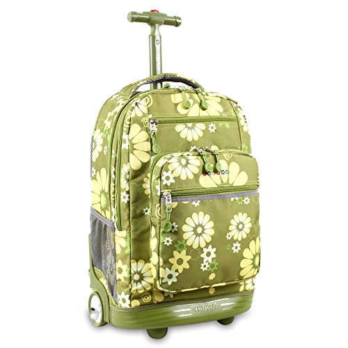 J World New York Sundance Rolling Backpack, Khaki Flower,...