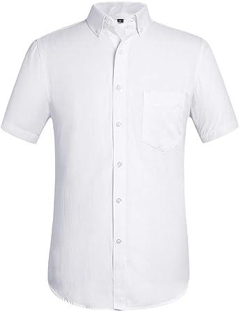 Jeetoo - Camisa de franela clásica de manga larga para hombre, ajuste regular: Amazon.es: Ropa y accesorios