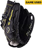 Mark Melancon Pittsburgh Pirates Autographed Spalding Black With Yellow Stitching Game Used Glove Signed in Yellow Ink - Fanatics Authentic Certified