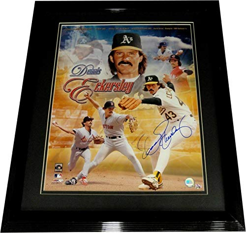 Dennis Eckersley Hand Signed Auto Custom Framed 16X20 Photograph Oakland A's - Autographed MLB - Photograph Mlb 16x20 Hand Signed
