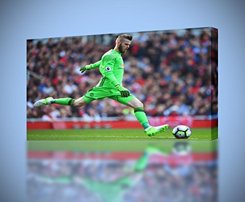 David De Gea CANVAS PRINT Wall Decor Giclee Art Poster Football CA876, ()