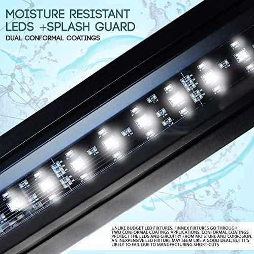 "Finnex Planted+ 24/7 LED Klc Aquarium LED Light, Automated Full Spectrum Fish Tank Light, 46.5-48"""