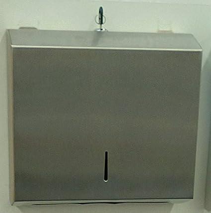 Acero inoxidable EcoCare plegable dispensador de toallas de papel, inox, de papel dispensador de