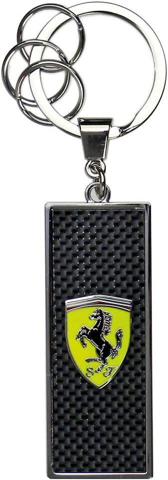 Branded Sports Merchandising B.V Scuderia Ferrari F1 Black Metal Keyring