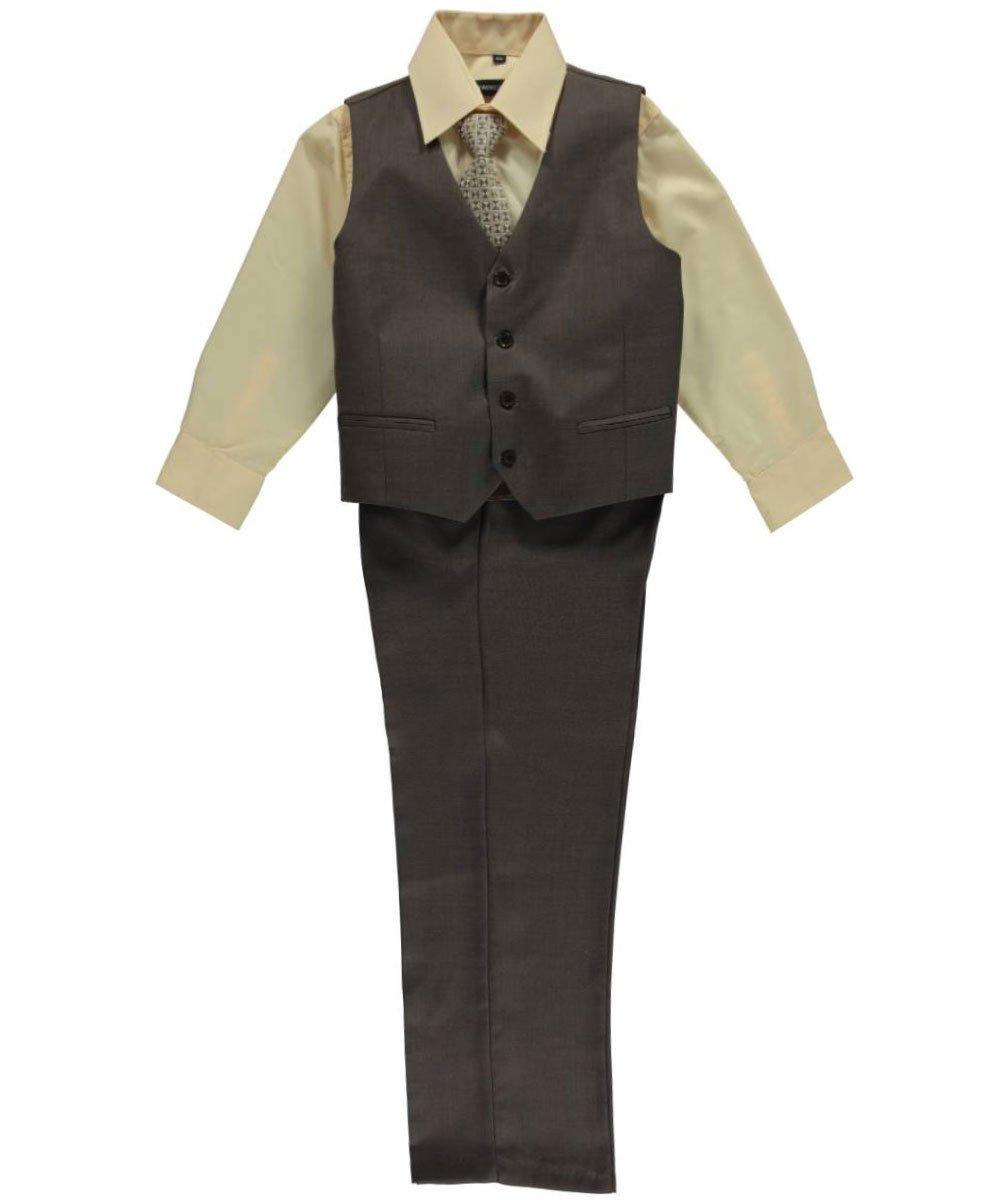 Kids World Big Boys' Husky Burnham 5-Piece Suit - Brown, 14 Husky by Kids World (Image #2)
