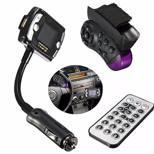 Elevin(TM) Car Kit Wireless Bluetooth FM Transmitter MP3 Player USB SD LCD Remote Handsfree