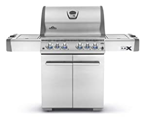 Napoleon Grills LEX485RSIBNSS-1 with Infrared Side & Rear Burners Natural Gas Grill