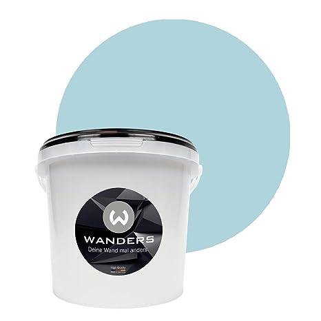 Wanders24 Pintura de pared pintura de pizarra mate (3 litros, Azul persa) lavable, creativo, escribible, pintura de pizarrón