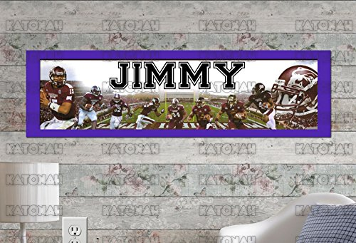 (Customized Name Painting Mississippi State Bulldogs Poster With Your Name On It Personalized Banner With Border Mat )