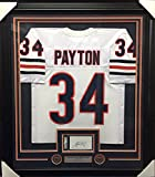Walter Payton Coa Autographed Index Card Framed