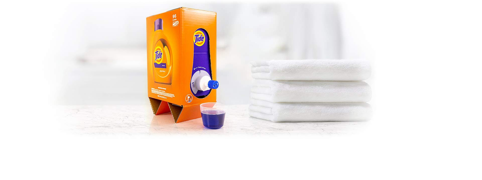 Tide Laundry Detergent Liquid Eco-Box, Concentrated, Original Scent, 105 oz, HE Compatible, 96 Loads by Tide (Image #2)