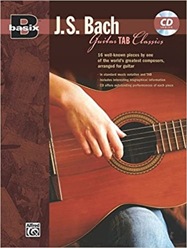 Guitar guitar tabs book : Basix Guitar TAB Classics -- J.S. Bach: Book & CD: Johann ...