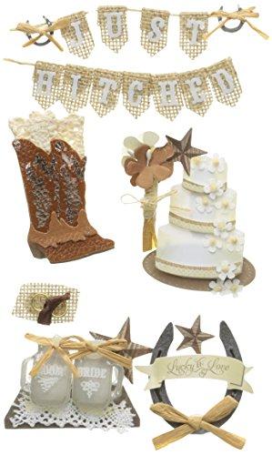 Jolee's Boutique Dimensional Stickers-Western Wedding