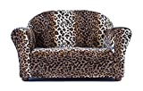 Keet Roundy Faux Fur Children's Sofa, Leopard