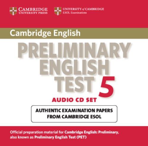 Cambridge Preliminary English Test 5 Audio Cd Set 2 Cds Pet Practice Tests Cambridge Esol Amazon De Bücher