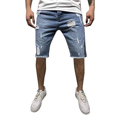 Pantalones Cortos para Hombres Pantalones Vaqueros ...