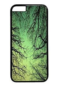 Green sky Polycarbonate Hard Case Cover for iphone 6 plus 5.5 inch Black
