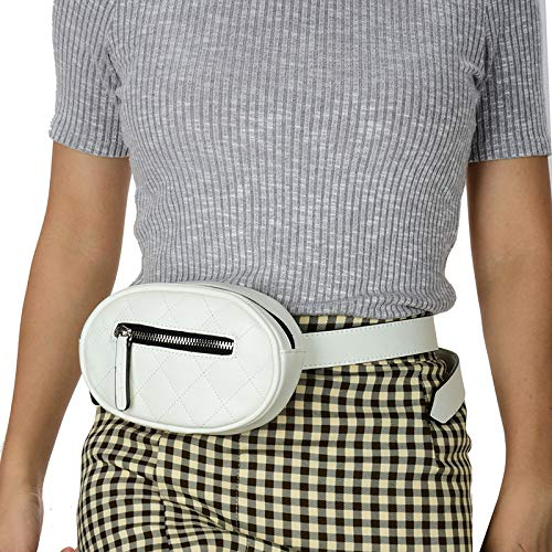 Waist Bags with Adjustable Strap Fanny Packs for Women PU Leather Belt Bag Fanny Pack Crossbody Bag