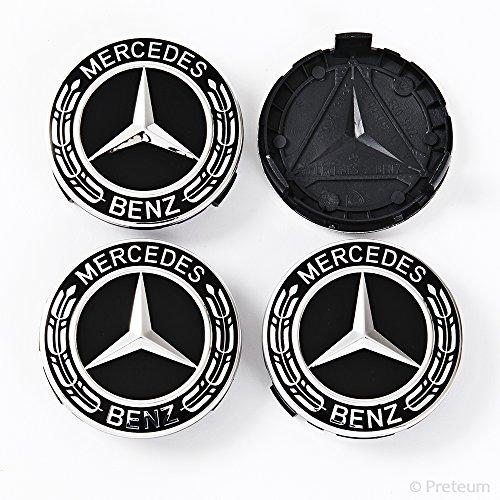 Mercedes Benz Wheel Center Caps - Set of 4 - New - Black - 75mm /3 Inch - MB Wheels Center Cap - Mercedes Benz Wheel Caps – Mercedes Center Caps - Mercedes Wheel Caps - Mercedes Benz Center Wheel Caps by Preteum (Image #6)