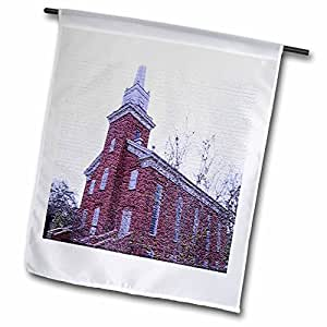 Jos Fauxtographee Realistic - The Old Tabernacle in St. George, Utah Textured - 18 x 27 inch Garden Flag (fl_44082_2)