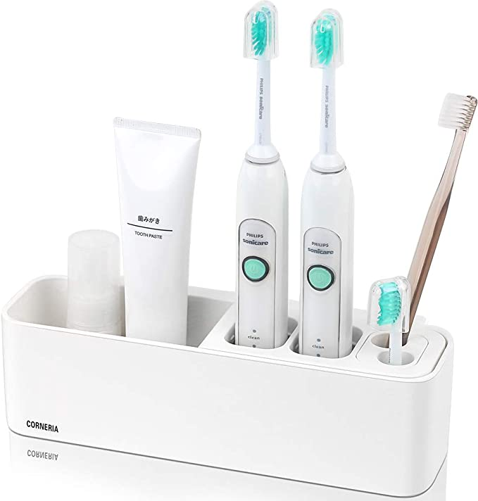 Befestigte Elektrische Zahnbürstenhalter  Zahnpasta-Halter Bad Organizer Wand