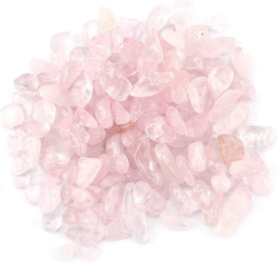 Wifehelper Chips de Piedra Caídos Triturada Cristal Natural Cuarzo Cristal Pequeño Pequeño Caída Piedras Preciosas 100 g Bolsos de Manojo(Rosa)