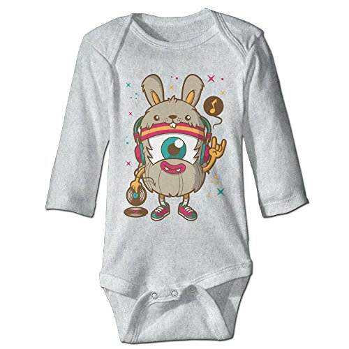 [Alexx Weird DJ Newborn Jumpsuit Bodysuit Long-sleeve Playsuit Ash 12 Months] (Alvin And The Chipmunks Costumes For Kids)