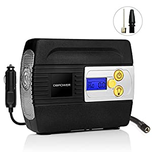 DBPOWER 12V DC Auto Premium Digital Tire Inflator, Pump to 100 PSI Portable Air Compressor with Digital Gauge and Light for Cars, Trucks, Bicycles and Basketballs