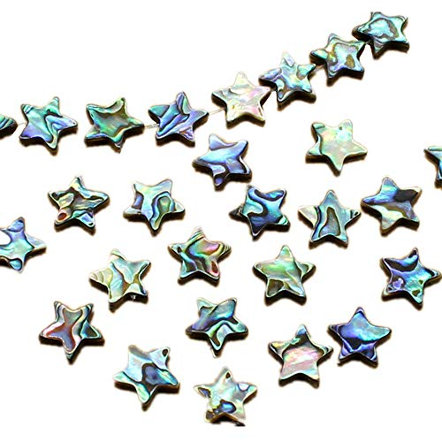 Used, QTMY 15 PCS Nature Abalone Shell Star Spacer Beads for sale  Delivered anywhere in USA
